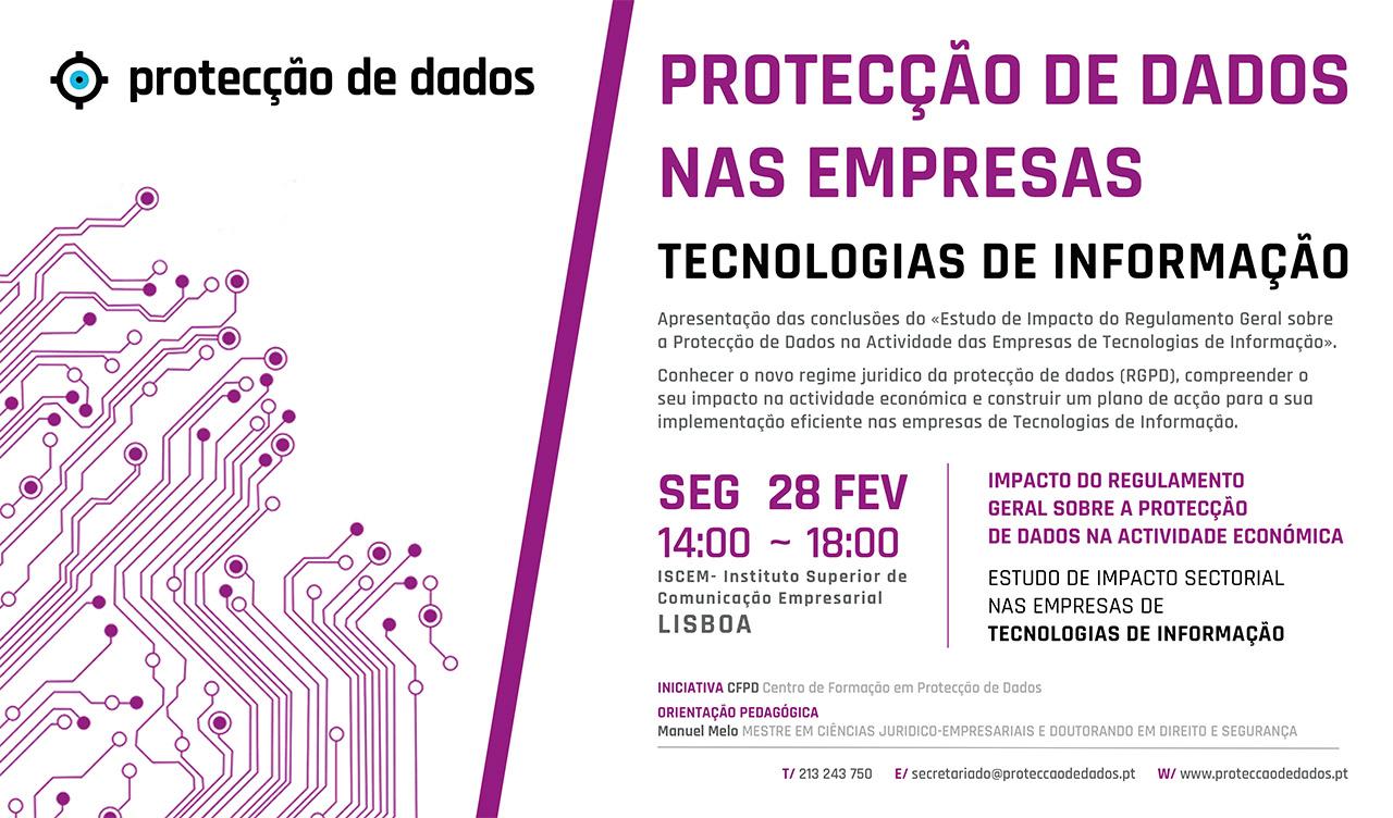 I Curso de Formação - Estudo de Impacto Sectorial - «Protecção de Dados Pessoais nas TIC's - Empresas de Tecnologias de Informação e Comunicação»