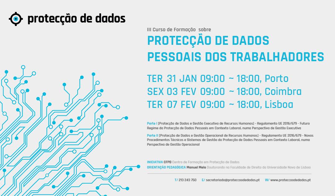 III Curso de Formação - «Protecção de Dados Pessoais dos Trabalhadores»