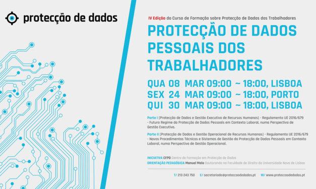 IV Curso de Formação – «Protecção de Dados Pessoais dos Trabalhadores» – Dados Pessoais em Contexto Laboral