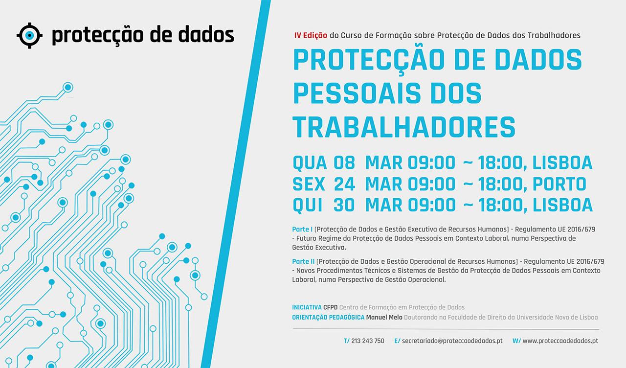 IV Curso de Formação - «Protecção de Dados Pessoais dos Trabalhadores»