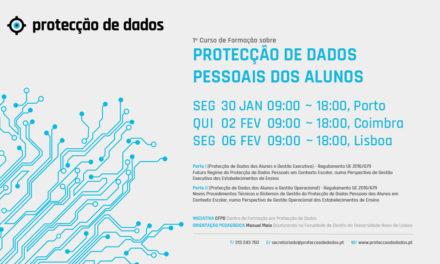 I Curso de Formação – «Protecção de Dados Pessoais dos Alunos» –  Estabelecimentos de Ensino