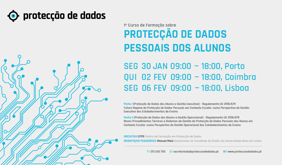 I Curso de Formação - «Protecção de Dados Pessoais dos Alunos» nos Estabelecimentos de Ensino