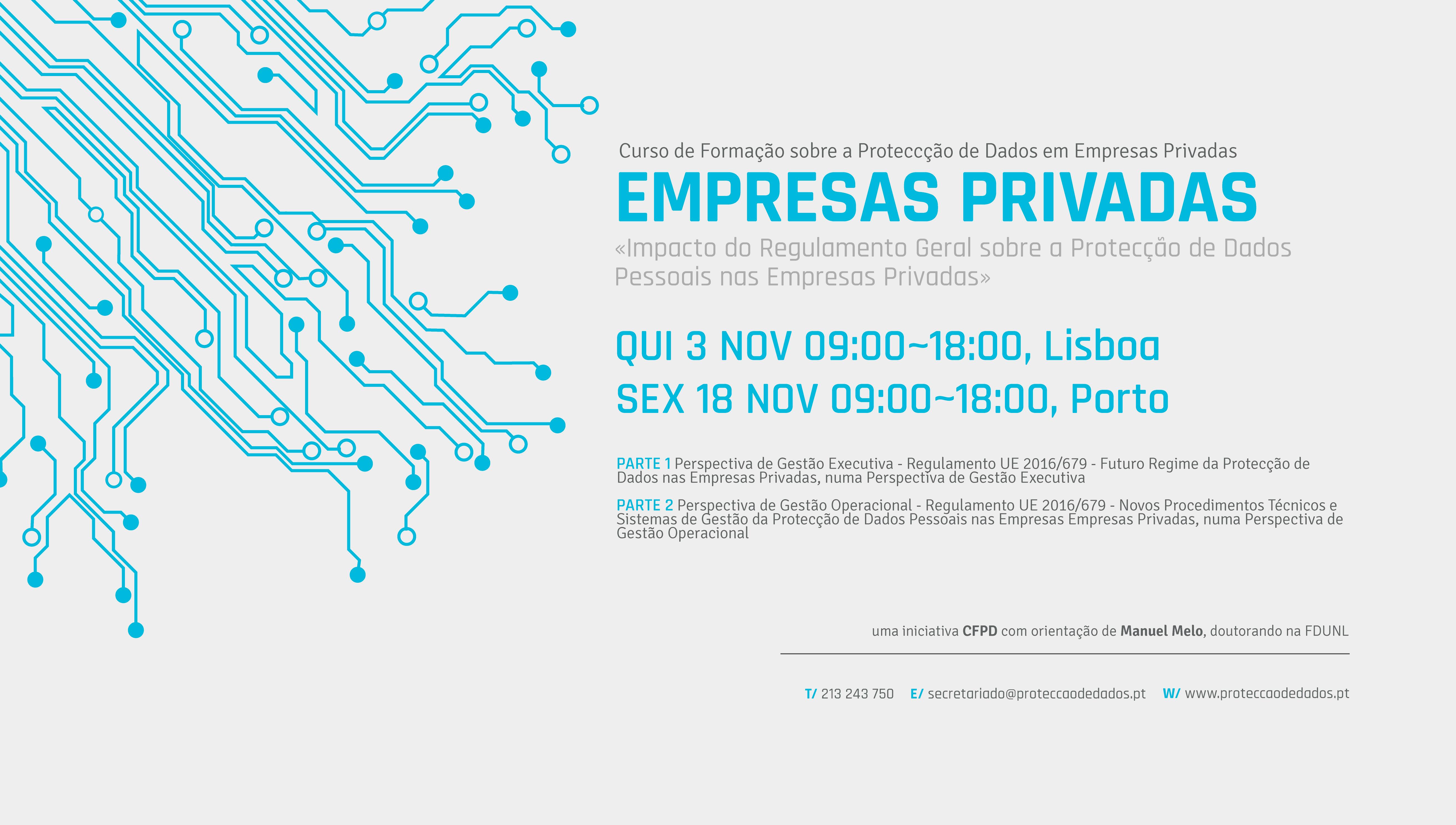 II Curso de Formação - «Impacto do Regulamento Geral de Protecção de Dados nas Empresas Privadas»