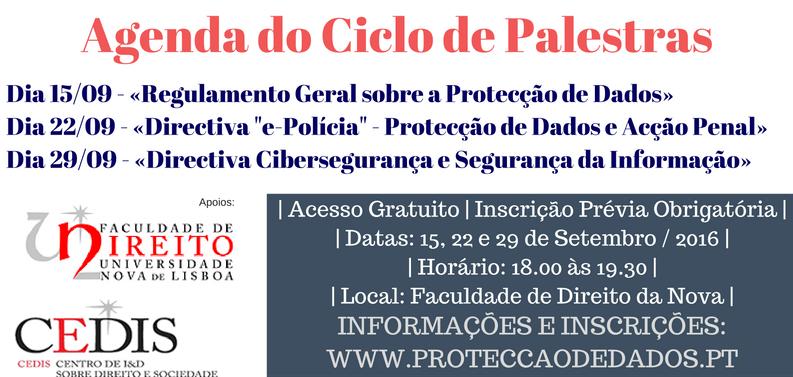 Ciclo de Palestras em Protecção de Dados e Cibersegurança