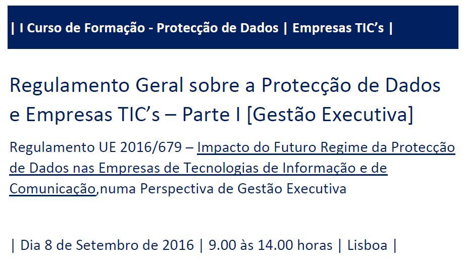Curso Protecção de Dados e Empresas TIC - Parte II Gestão Executiva
