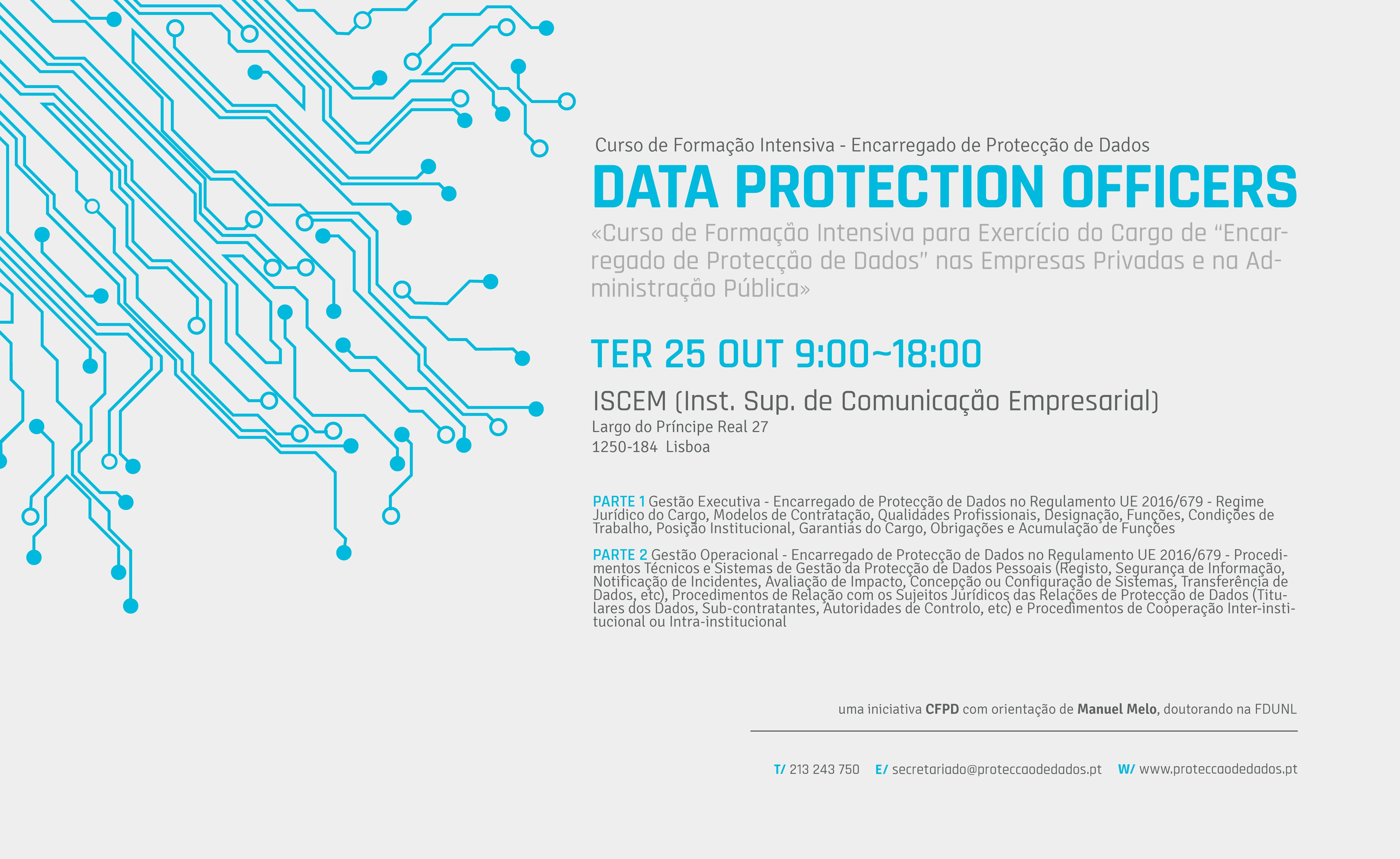 I Curso de Formação Intensiva - «Encarregado de Protecção de Dados» / «Data Protection Officer»