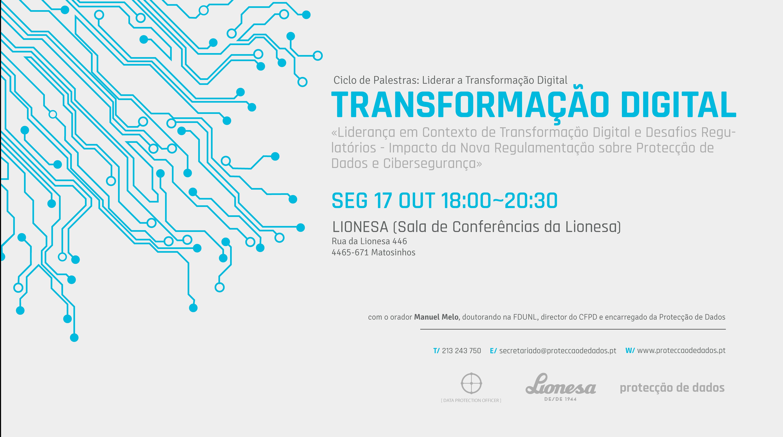 Palestra Transformação Digital e Protecção de Dados