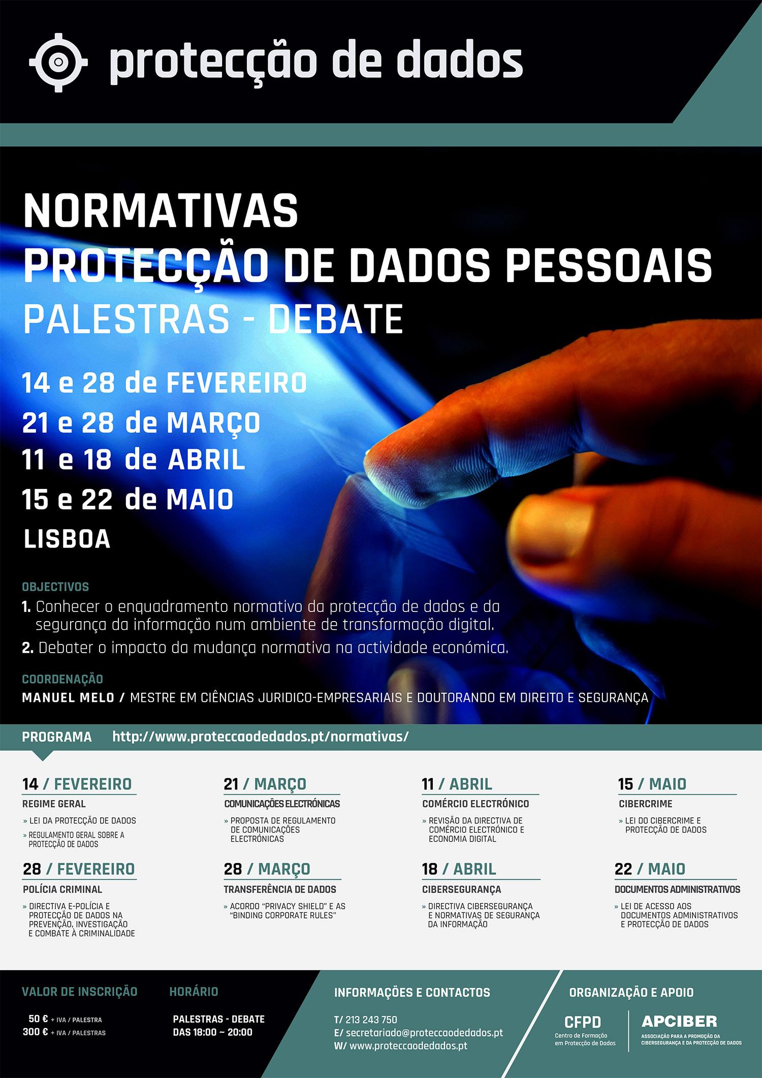 Ciclo de Palestras - Normativas sobre Protecção de Dados