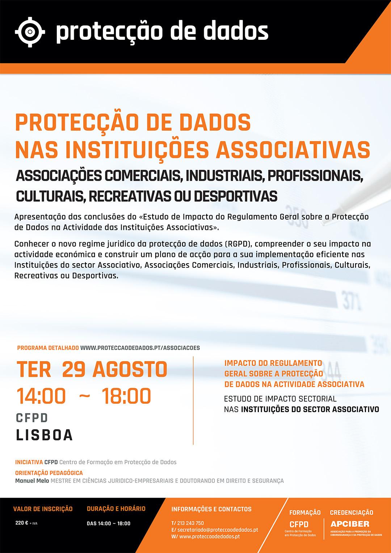 Estudo de Impacto Sectorial - «Protecção de Dados nas Instituições Associativas» - Programa do I Curso RGPD - Protecção de Dados Entidades Associativas - 20170829