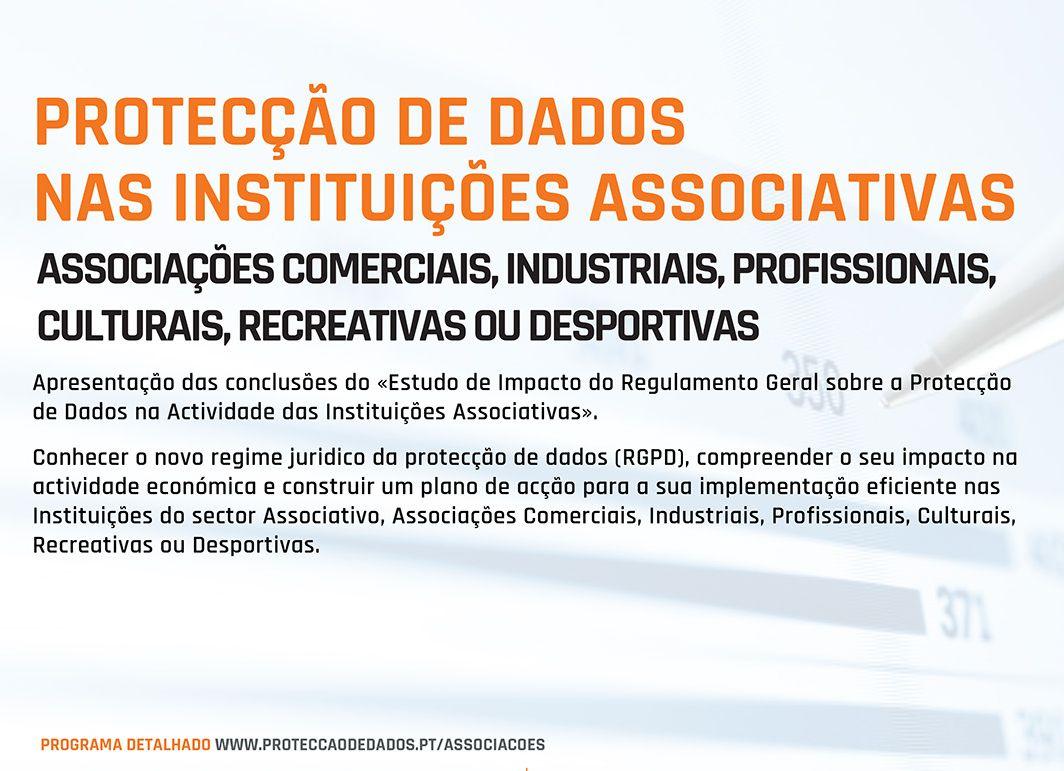 Curso RGPD Protecção de Dados nas Entidades Associativas - Postal - Ref P0042017 - CFPD