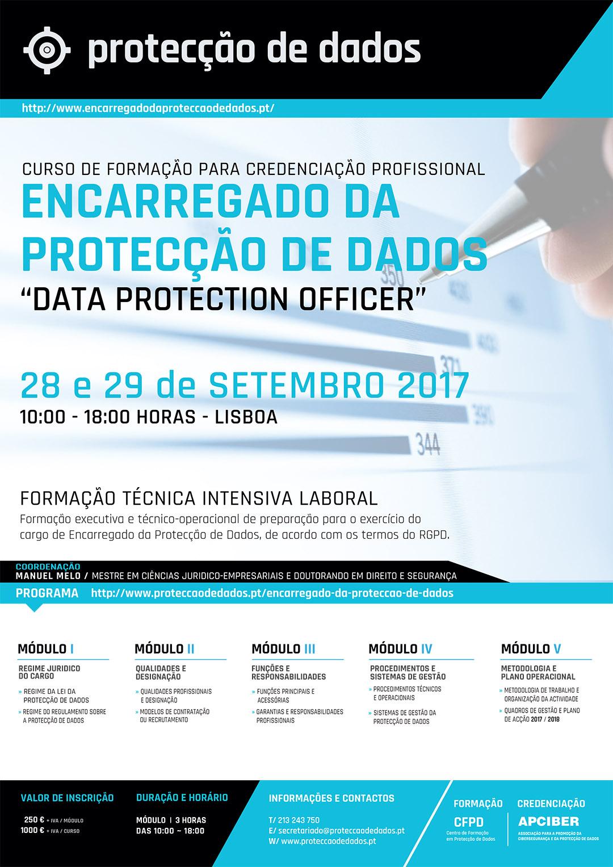 III Edição do Curso - «Encarregado da Protecção de Dados / Data Protection Officer» - Dias 28 e 29 de Setembro de 2017