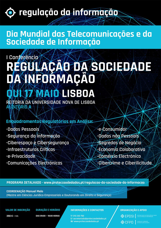 Regulação da Sociedade da Informação - Dia Mundial da Sociedade da Informação - Cartaz