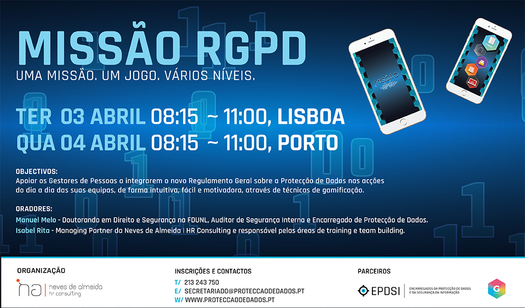 Missão RGPD - Reservar a Data - GDPR Gamification