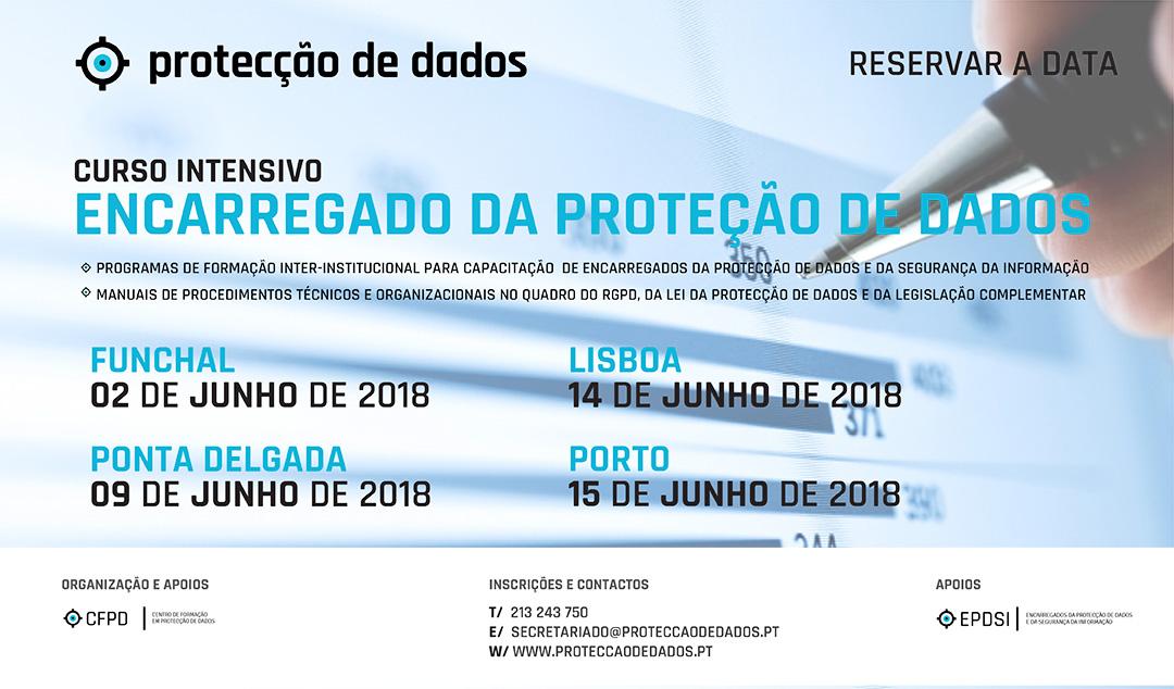 Curso Intensivo - Encarregados da Protecção de Dados - Data Protection Officers - Agenda Junho 2018