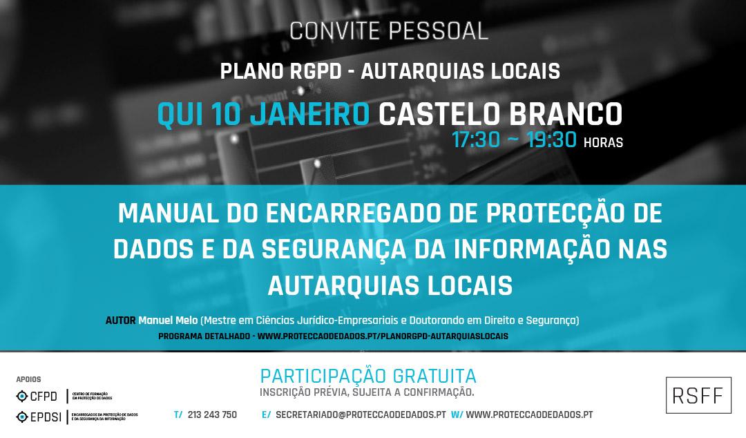 Plano RGPD | Autarquias Locais - Apresentação em Castelo Branco