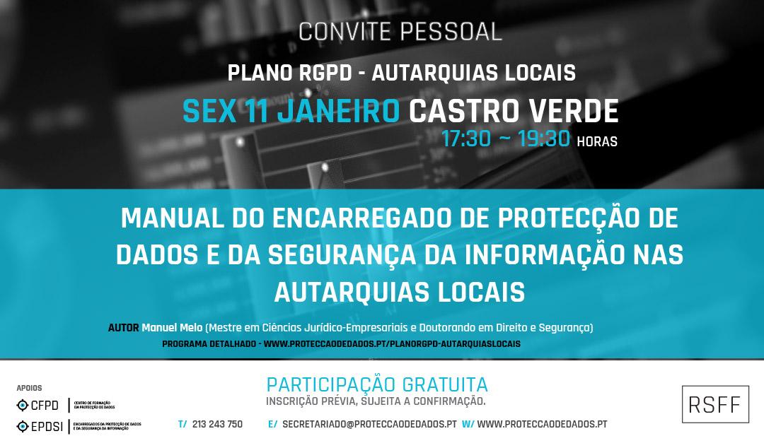 Plano RGPD | Autarquias Locais - Apresentação em Évora