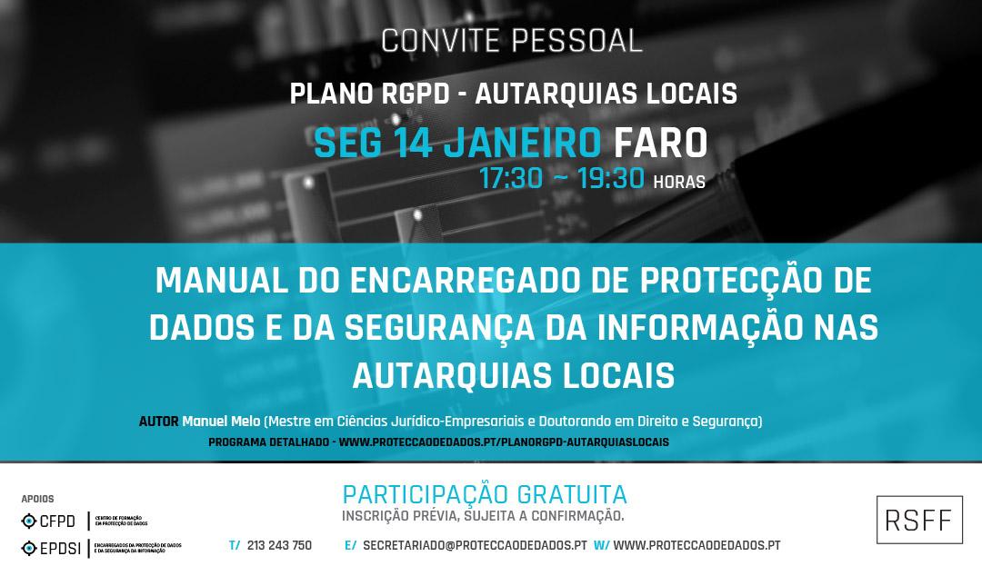 Plano RGPD | Autarquias Locais - Ciclo de Apresentações - Faro