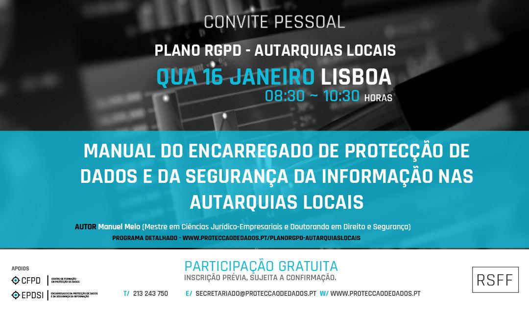 Plano RGPD | Autarquias Locais - Ciclo de Apresentações - Lisboa